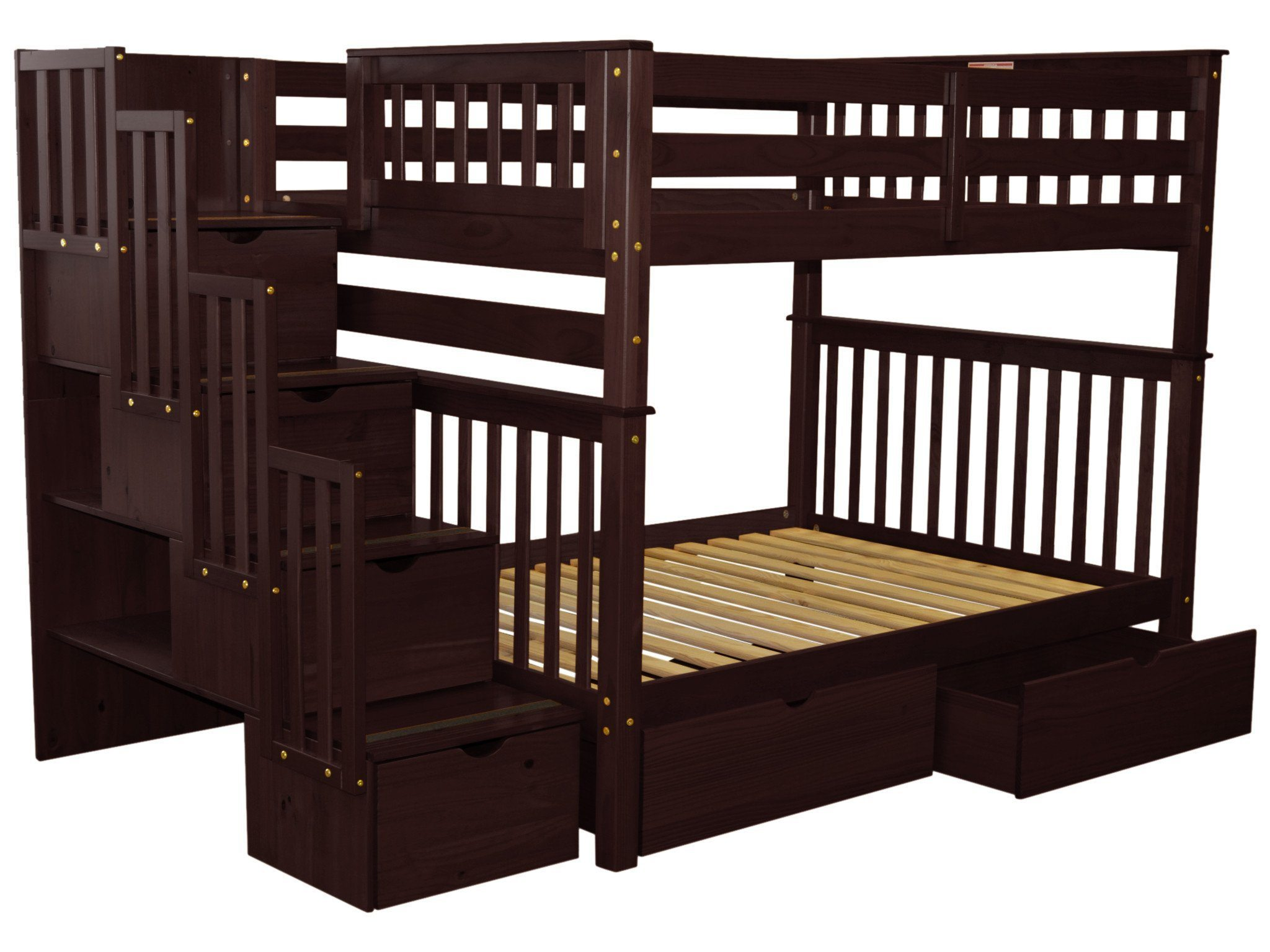 Merveilleux Bedz King Stairway Bunk Beds Full Over Full With 4 Drawers In The Steps And  2