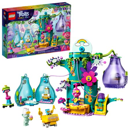 LEGO Trolls World Tour Pop Village Celebration 41255; Tree House Building Kit for Kids (380 Pieces)