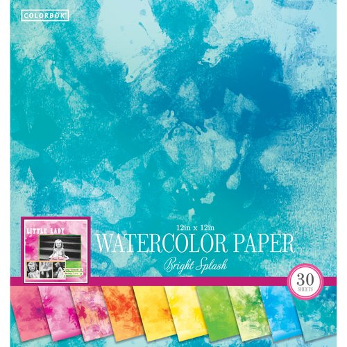 "Colorbok 12"" Paper Pad, Watercolor Bright Splash"