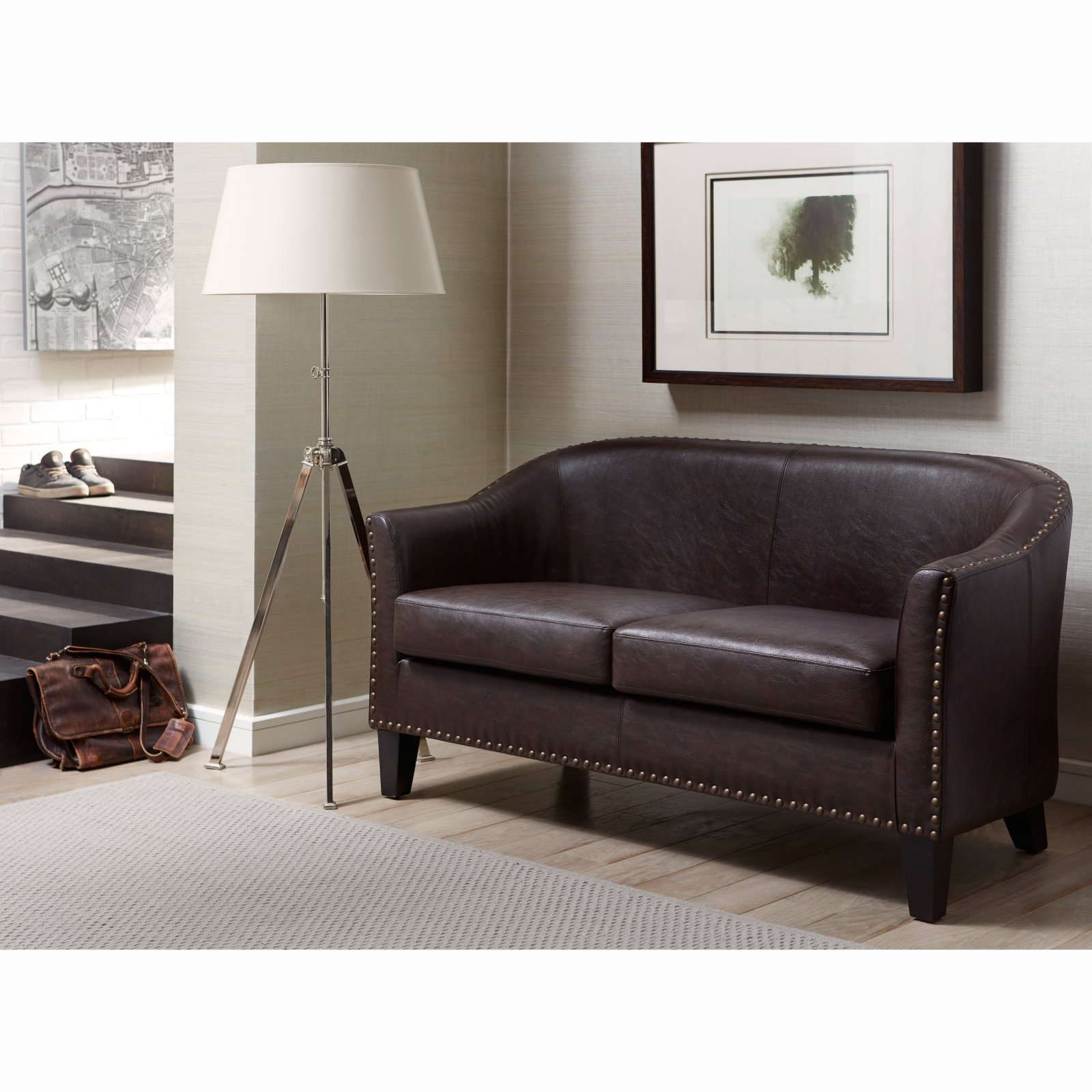 Right2Home Bonded Leather Loveseat