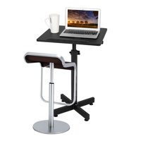 Ktaxon Computer Desk Lectern Stand Portable Adjustable Height Podium Table Black