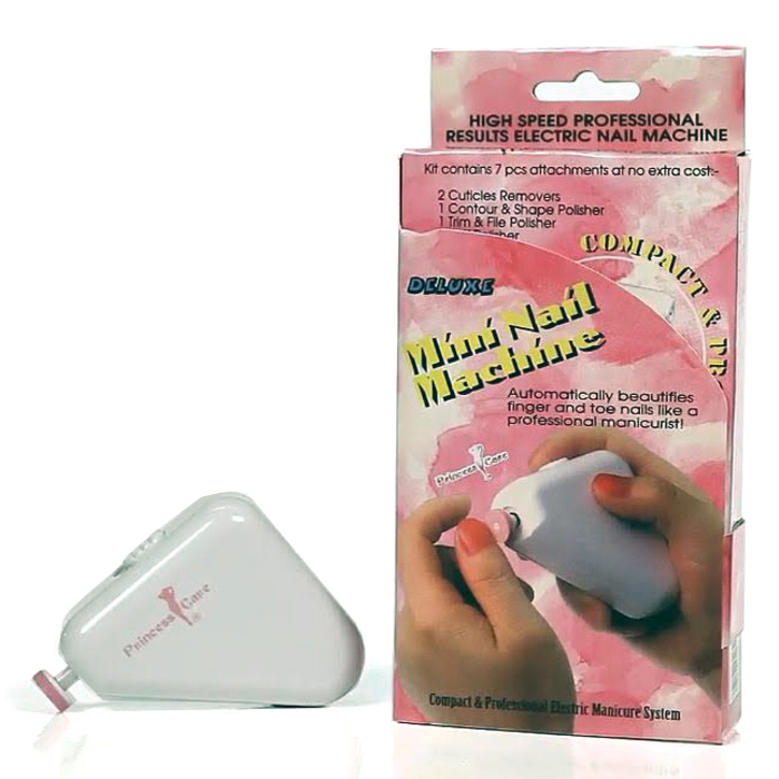 Princess Care Electric Manicure Pedicure Nail File Buffer Set Kit - Very Fast Speed Rotation, KB-03-11