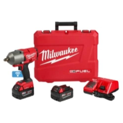"Milwaukee Electric Tools 2863-22 M18 Fuel One-key 1 2"" High Torque Impact Wrench W  [2] Batteries Kit by Milwaukee Electric Tool"