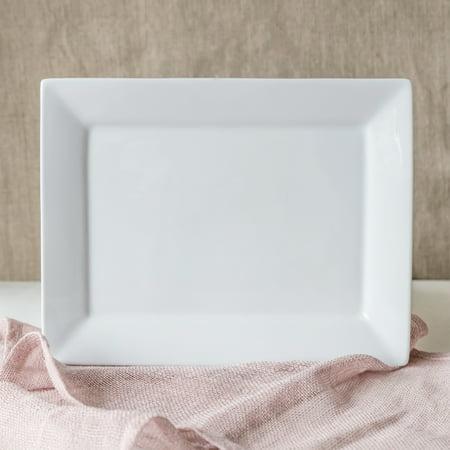 Better Homes & Gardens Square Bowl and Platter Set, White