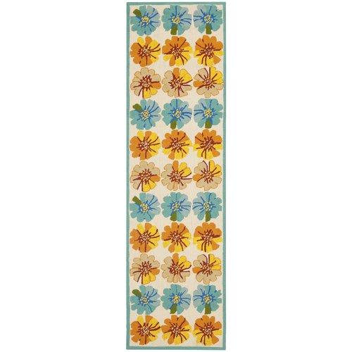 Safavieh Four Seasons Orange/Blue Outdoor Area Rug