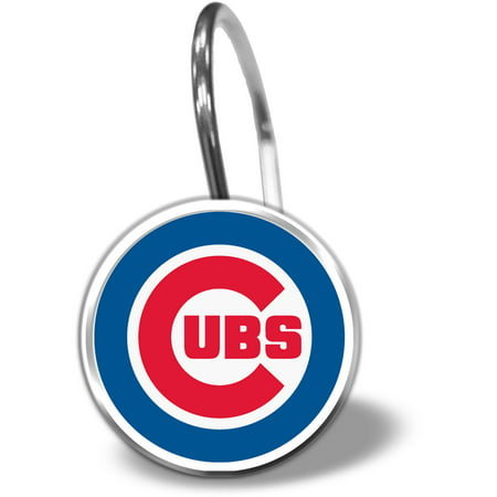 MLB Chicago Cubs 12 Piece Shower Curtain Ring Set