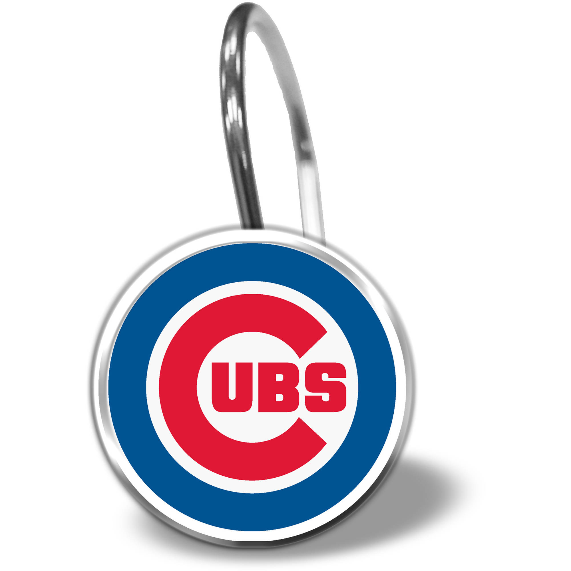 MLB Chicago Cubs 12-Piece Shower Curtain Ring Set