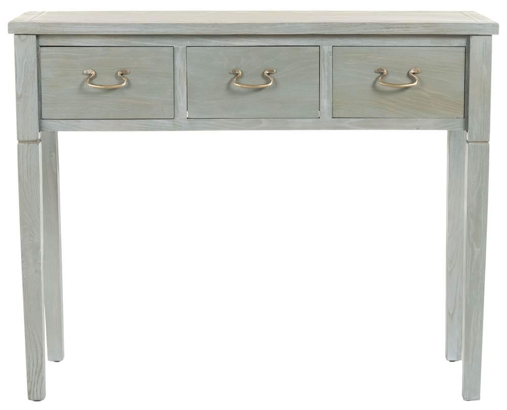 Safavieh ann elm wood washed console in ash grey walmart geotapseo Choice Image