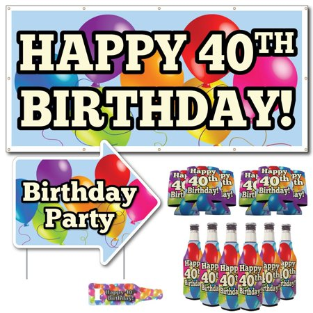 40th Birthday Party Decoration And Favor Kit