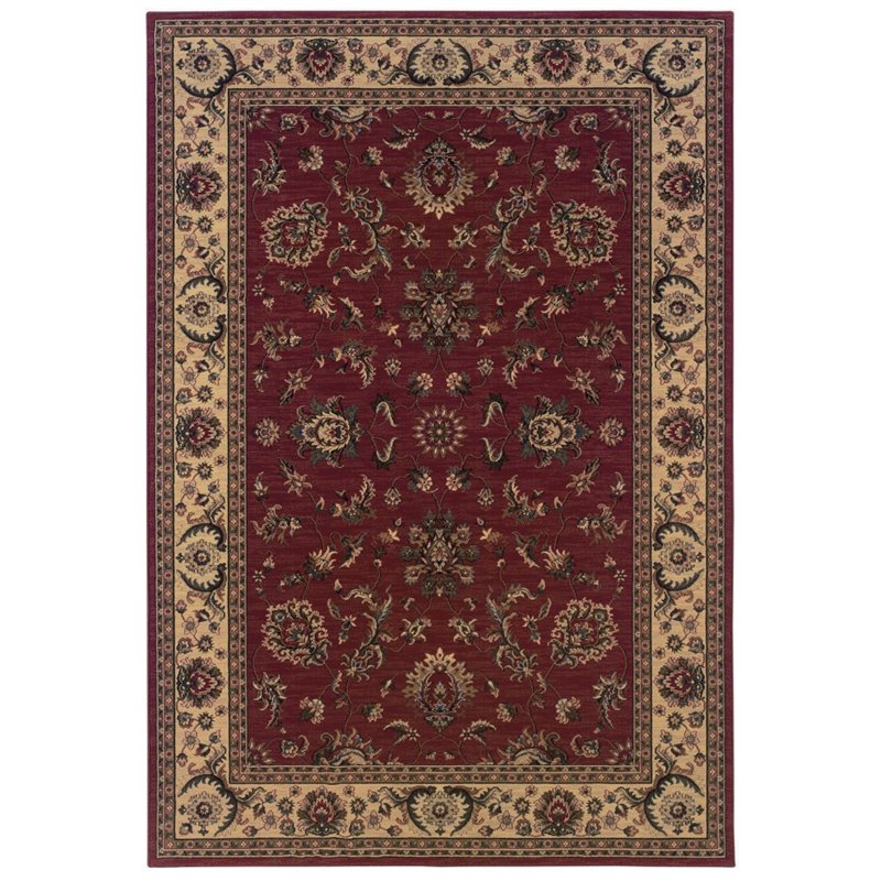 Sphinx Ariana Area Rugs - 311C3 Traditional Oriental Red Persian Vines Leaves Flowers Rug