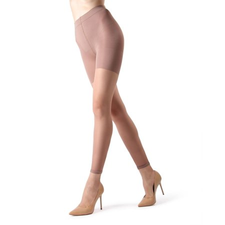 MeMoi Sheer Footless Capri Shaping Tights | Sheer Tights by MeMoi Large / Honey MM 226