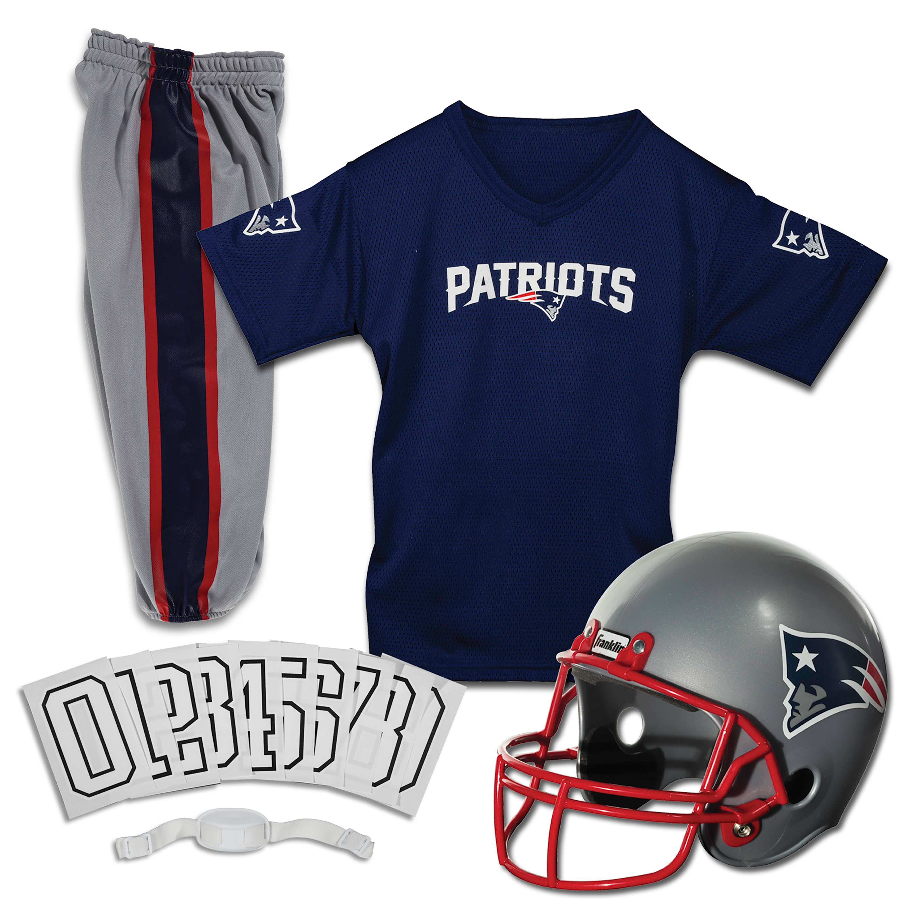 Franklin Sports NFL New England Patriots Youth Licensed Deluxe Uniform Set, Medium