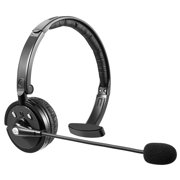 LUXMO Trucker Bluetooth Headset, Wireless Headphone Over The Head Office Headset with Boom Microphone, Rechargeable Noise Cancelling Wireless Headphone for iPhone Android, Truck Driver, Call Center