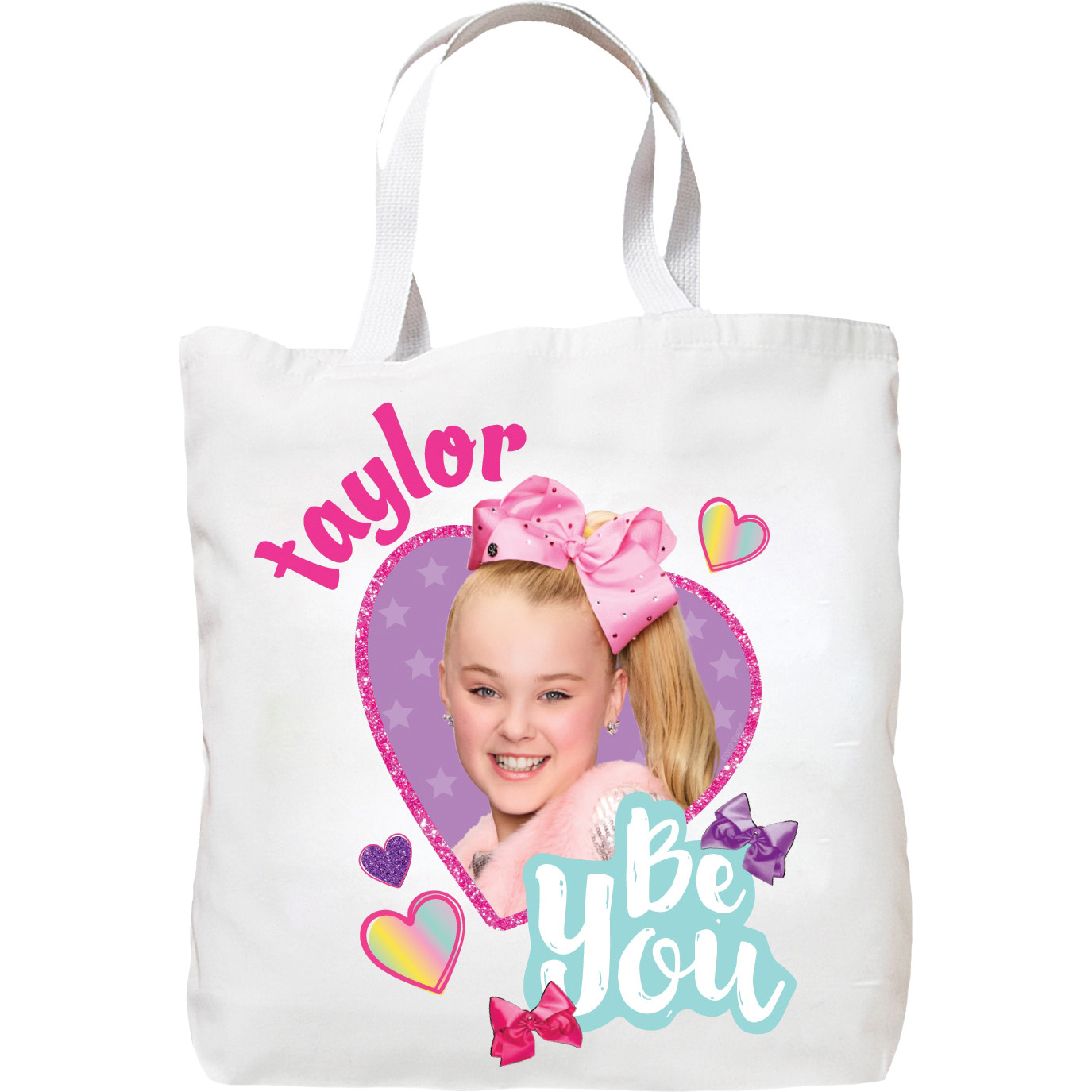 Personalized JoJo Siwa Be You Tote Bag