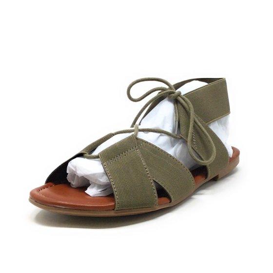 bccc1f53f0 MIA - MIA Womens Bonnie Flat Gladiator Sandal Olive Green Size 6 M ...