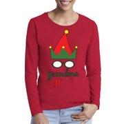 Awkward Styles Xmas Elf Grandma Ugly Christmas Sweater Long Sleeve T-shirt For Women