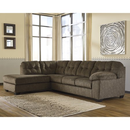 Incredible Flash Furniture Signature Design By Ashley Accrington 2 Piece Raf Sofa Sectional In Earth Microfiber Beatyapartments Chair Design Images Beatyapartmentscom