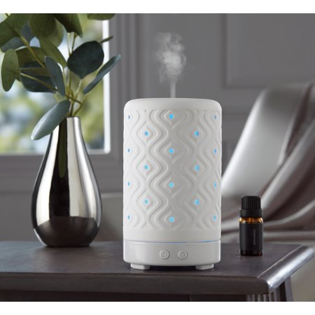 Mainstays Essential Oil Diffuser, White Ceramic