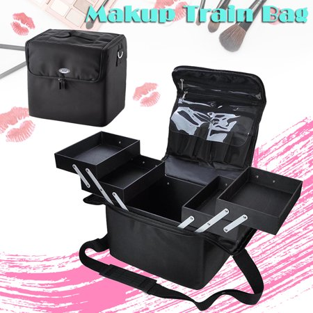 AW 210D Oxford Soft Fabric Makeup Train Case Artist Cosmetic Travel Storage Box - image 8 of 8