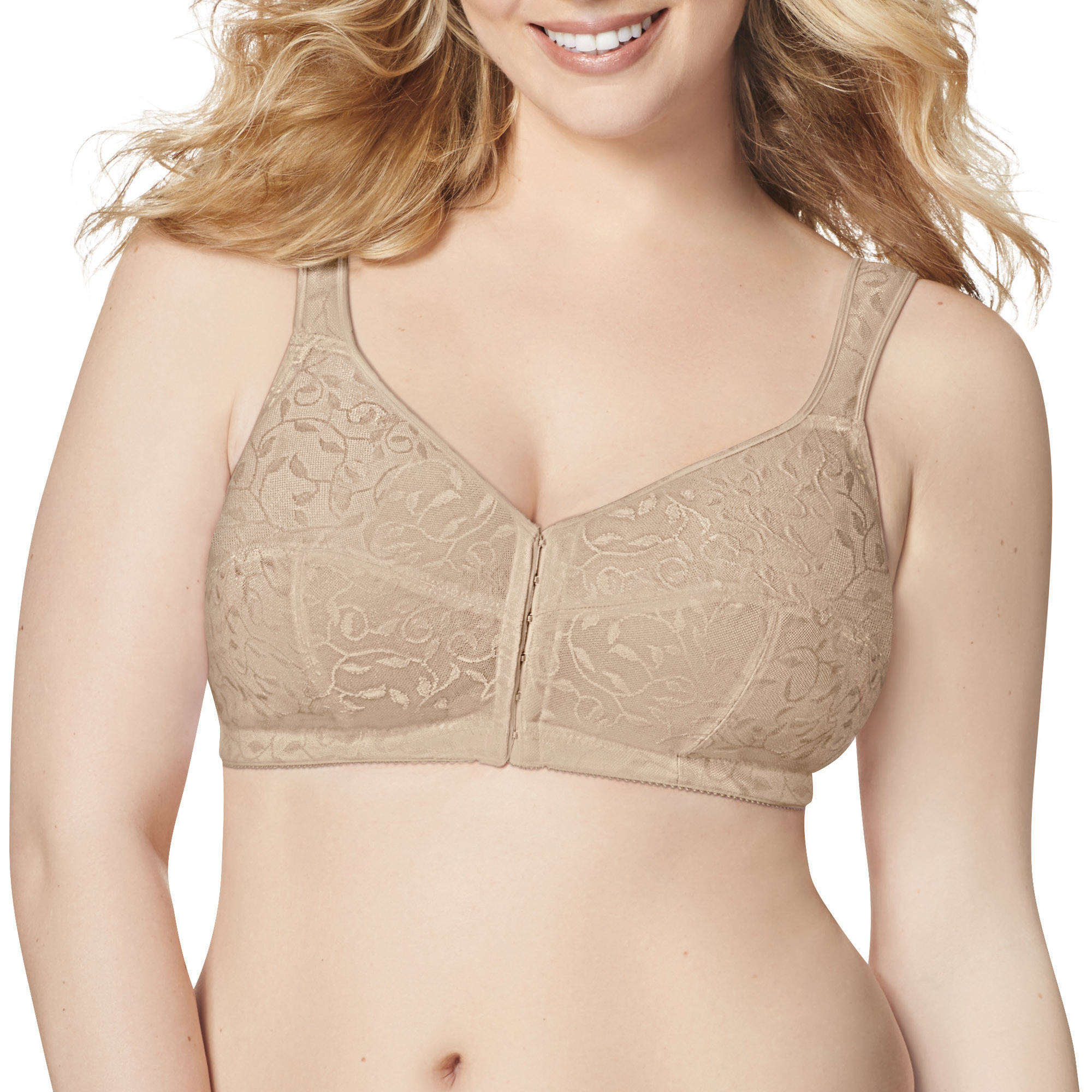 Just My Size Front Close Wirefree Bra, Style 1107
