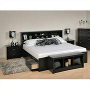 Bedroom Sets Black. Prepac Sonoma Black King Bookcase Platform Bed 3 Piece Bedroom Set Sets  Walmart com