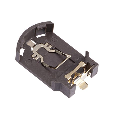 1pc CR/LIR2032 Pièce Support Batterie Bouton Horizontal Contenant Marron Bo te - image 4 de 4
