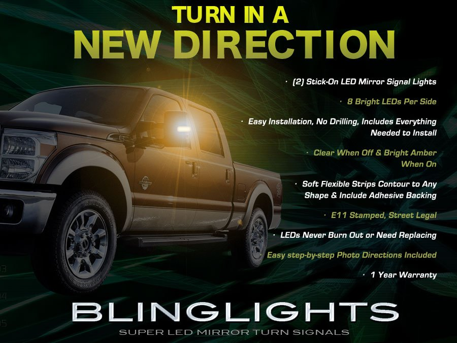Ford F  Super Duty Led Mirror Turnsignals Lights Side Mirrors Turn Signals Lamps F