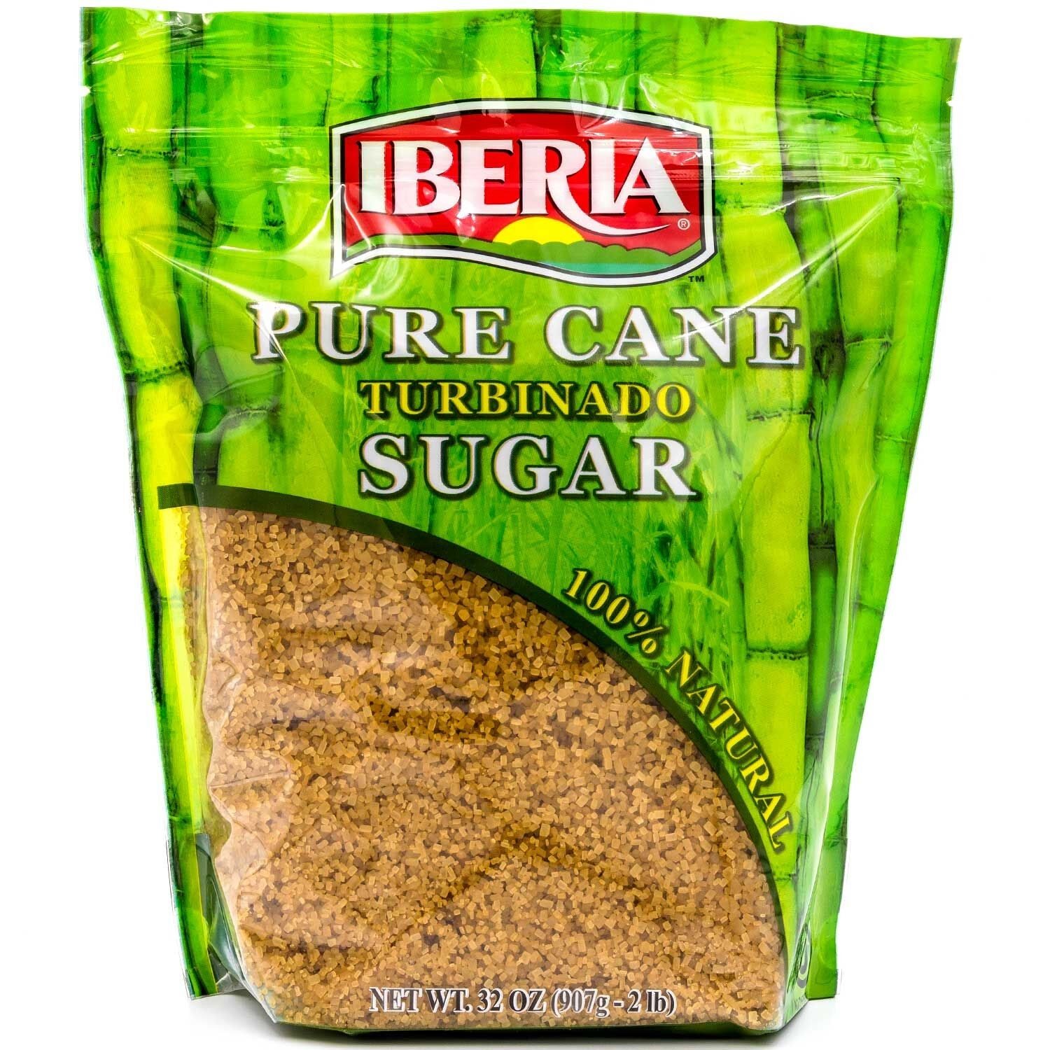 Iberia 100% Natural Pure Cane Sugar, 32 Oz