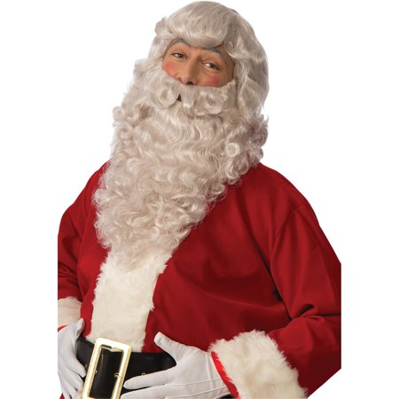 Deluxe Santa Wig/Beard Set Adult Christmas Accessory