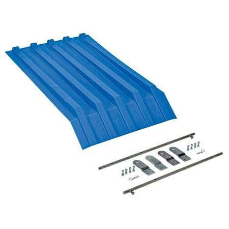 Vestil Manufacturing PLID-H-25-BU Heavy-Duty Poly Lid for Size 0.25 Style H Hopper, Blue