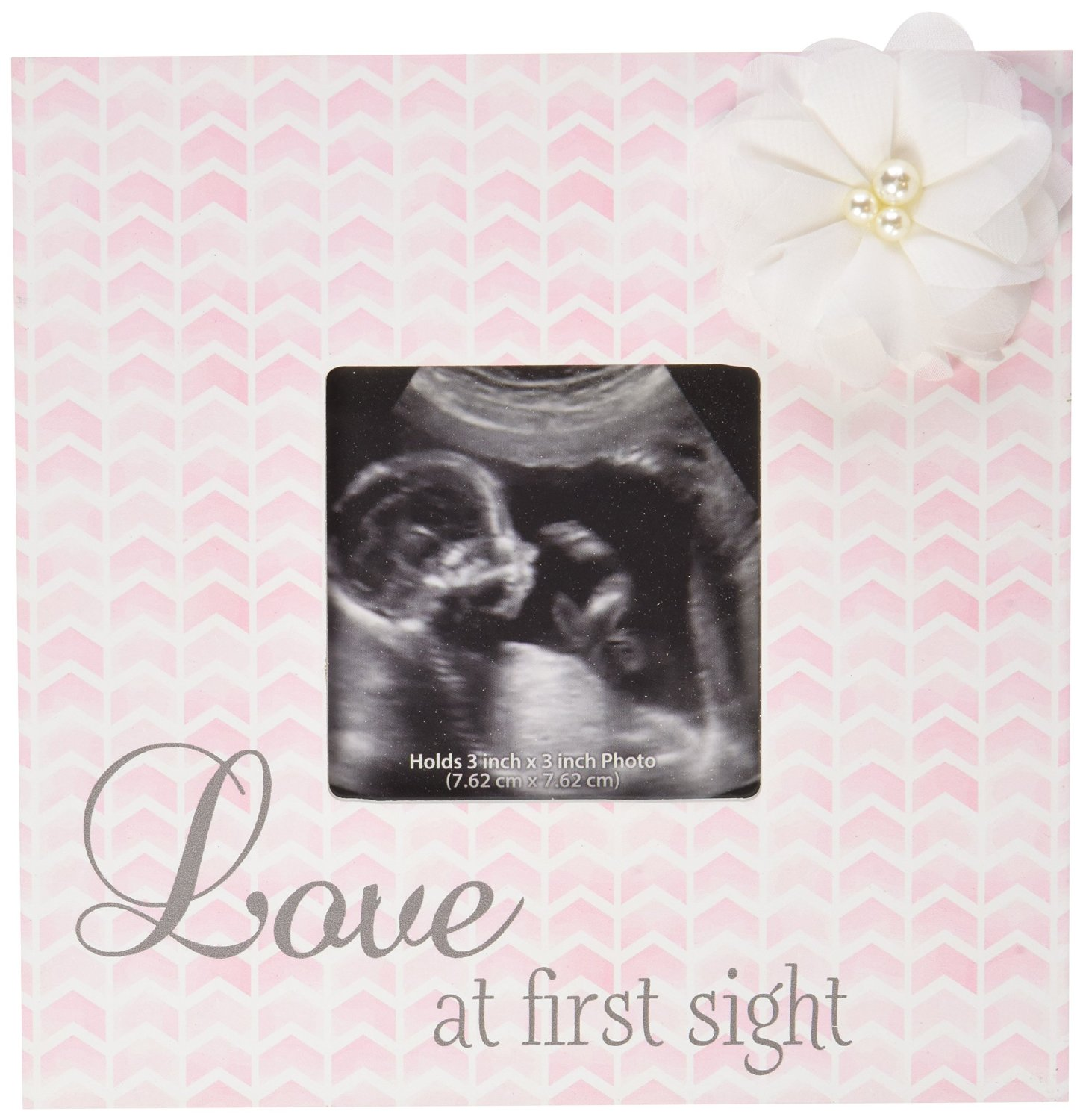 C.R. Gibson Love At First Sight Girl Sonogram Frame