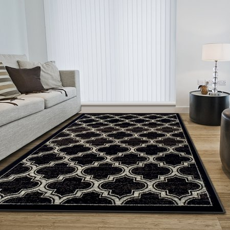 Superior Bohemian Trellis Collection with 8mm Pile and Jute Backing, Moisture Resistant and Anti-Static Indoor Area Rug Bohemian Jute Area Rug