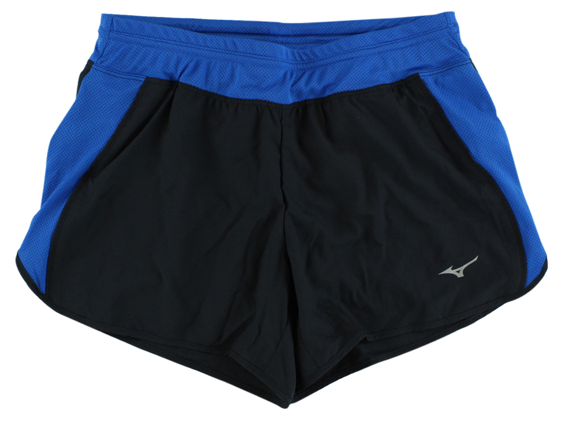 Mizuno Womens Contrast Running Shorts Black by