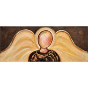 Thompson and Elm Love's Reflections Angel Oil Painting Print on Canvas