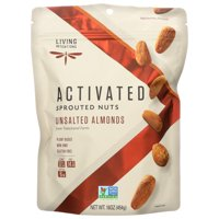 Living Intentions Almonds, Sprouted, Unsalted, 16 Oz, 16 Oz, Pack Of 4