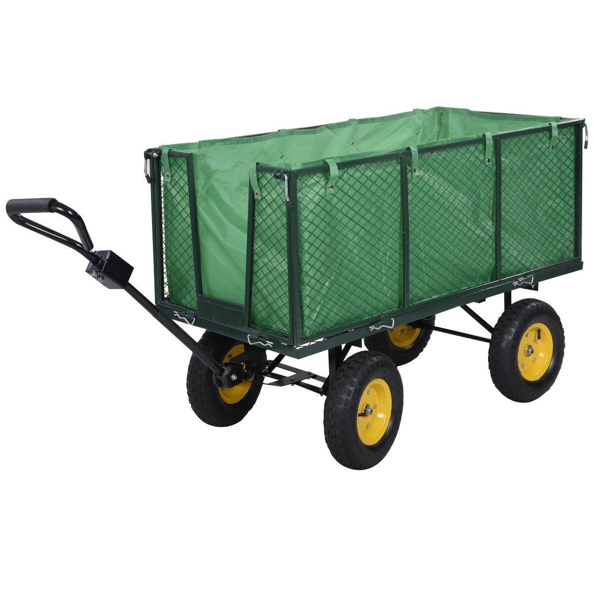 Genial Large Collapsible Utility Wagon Garden Cart Shopping Buggy Yard Beach Heavy  Duty