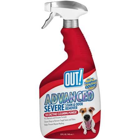 Orange Cat Odor Remover (OUT! Advanced Severe Stain & Odor Remover, 32 oz)