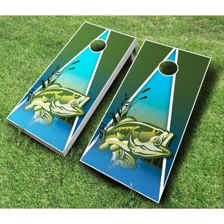 Fish cornhole set with bags for Fish scale walmart