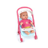 """WonderPlay Pretty in Pink! Mini Baby Playset With Stroller & 12"""" Baby Doll With Sound/& Sound 10 Sounds - Pink"""