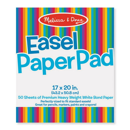 Melissa Doug Easel Paper Pad 17 X 20 50 Sheets Per Pad 3 Pads