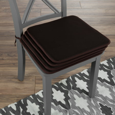 Chair Cushions Set Of 4 Square Foam 16x 16 Pads With