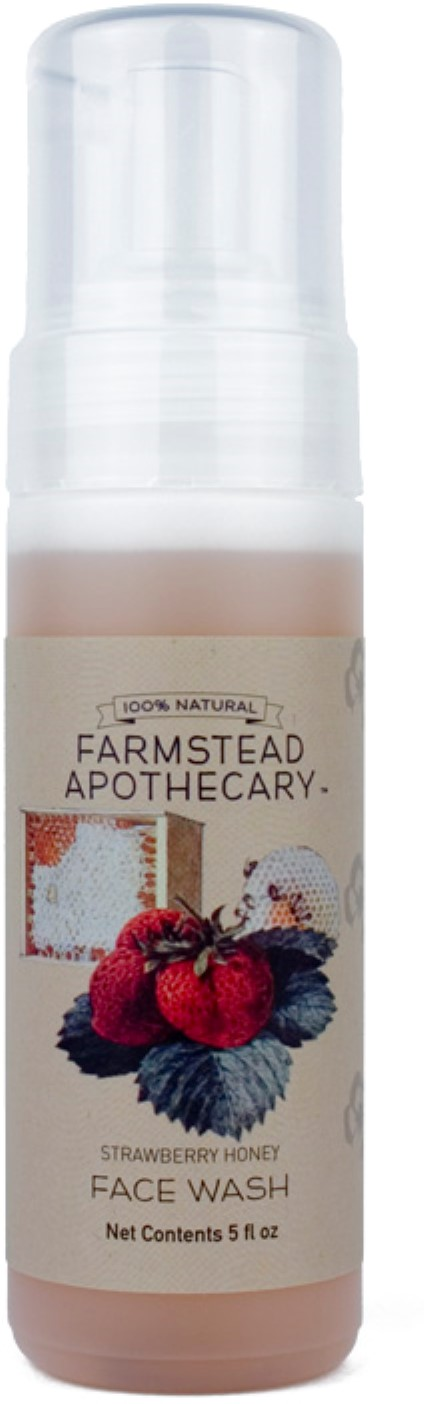 4 Pack - Farmstead Apothecary Foaming Face Wash, Strawberry Honey 5 oz Eminence - Stone Crop Hydrating Gel -35ml/1.2oz