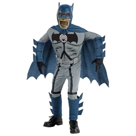 Batman Blue Deluxe Zombie Costume Child Small 4-6](Blue Batman Costume Kids)
