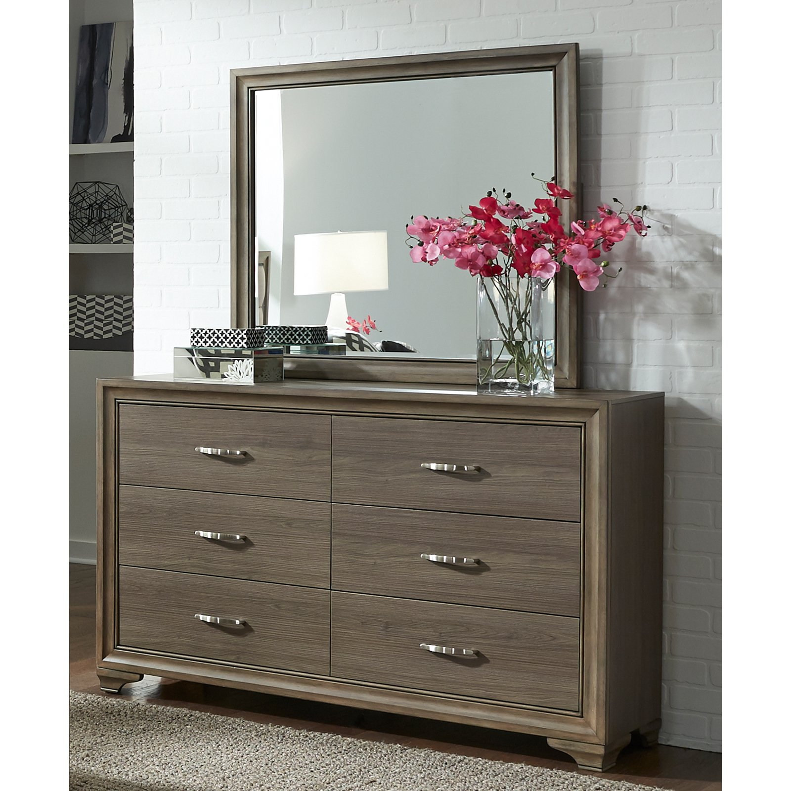 Liberty Furniture Industries Hartly 6 Drawer Dresser