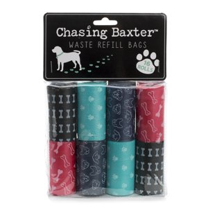 Tricoastal- Chasing Baxter 16 Roll Pack Waste Bags In Assorted Prints