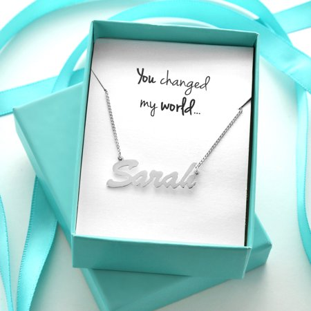 Silver Name Necklace in