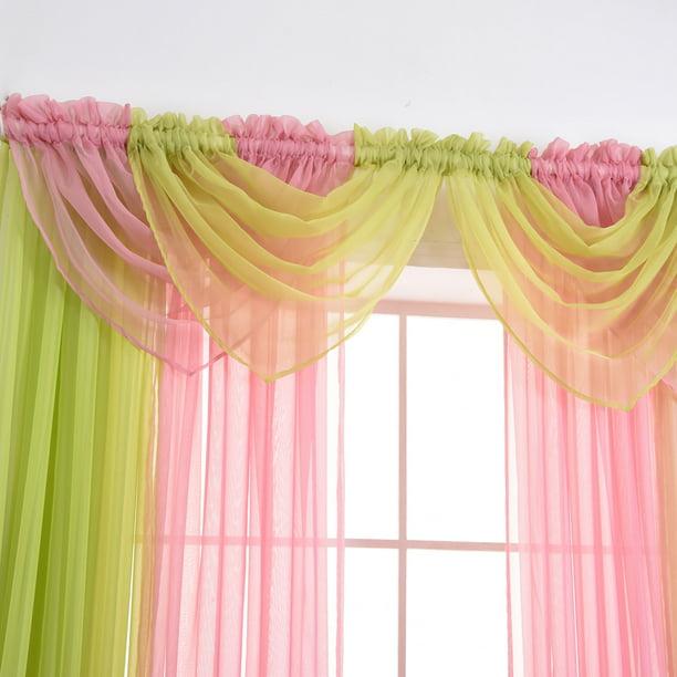 Sheer Voile Net Curtains Drape Panel