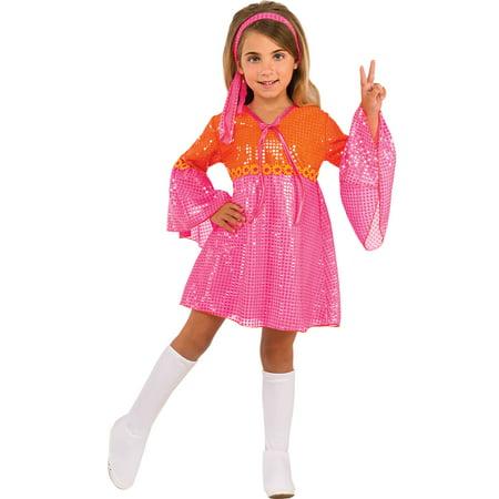 Girls Go-Go Girl Halloween Costume - Gogo Pink