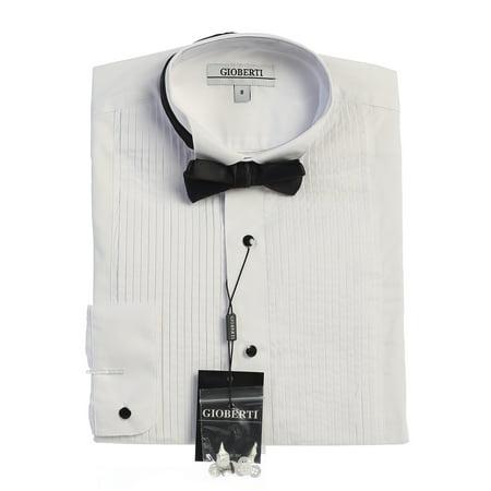 Boys Party Dresses (Gioberti Boy's Wingtip Collar Tuxedo Dress Shirt with Bow)