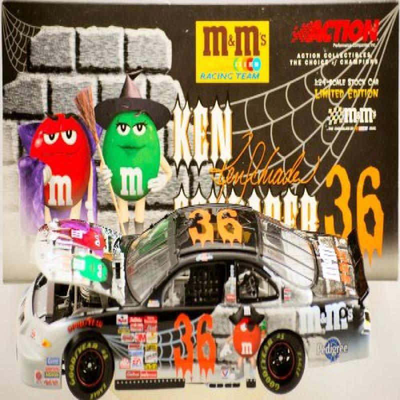 Action Nascar Ken Schrader #36 2001 Pontiac Grand Prix M&M's Racing Team   Halloween Paint... by